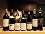 ワインはフランス・イタリアを中心にセレクト。