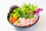 博多無農薬水耕栽培でつくったかにサラダです。