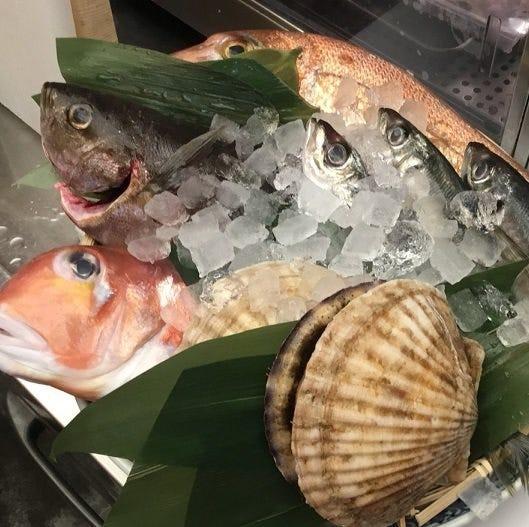 毎日仕入れる日替わりの鮮魚をお楽しみください
