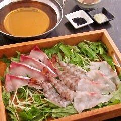 【名物】天草 海しゃぶ (鯛,鰤,車海老)+だご麺