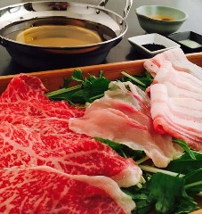 【名物】天草 肉しゃぶ (牛、豚、鶏)+だご麺