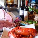 多彩な美味をお届けするケルンでは、山海の幸も選びぬいたものだけをご用意