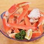 【蟹】 北海道直送のズワイ蟹はコースでもご提供します