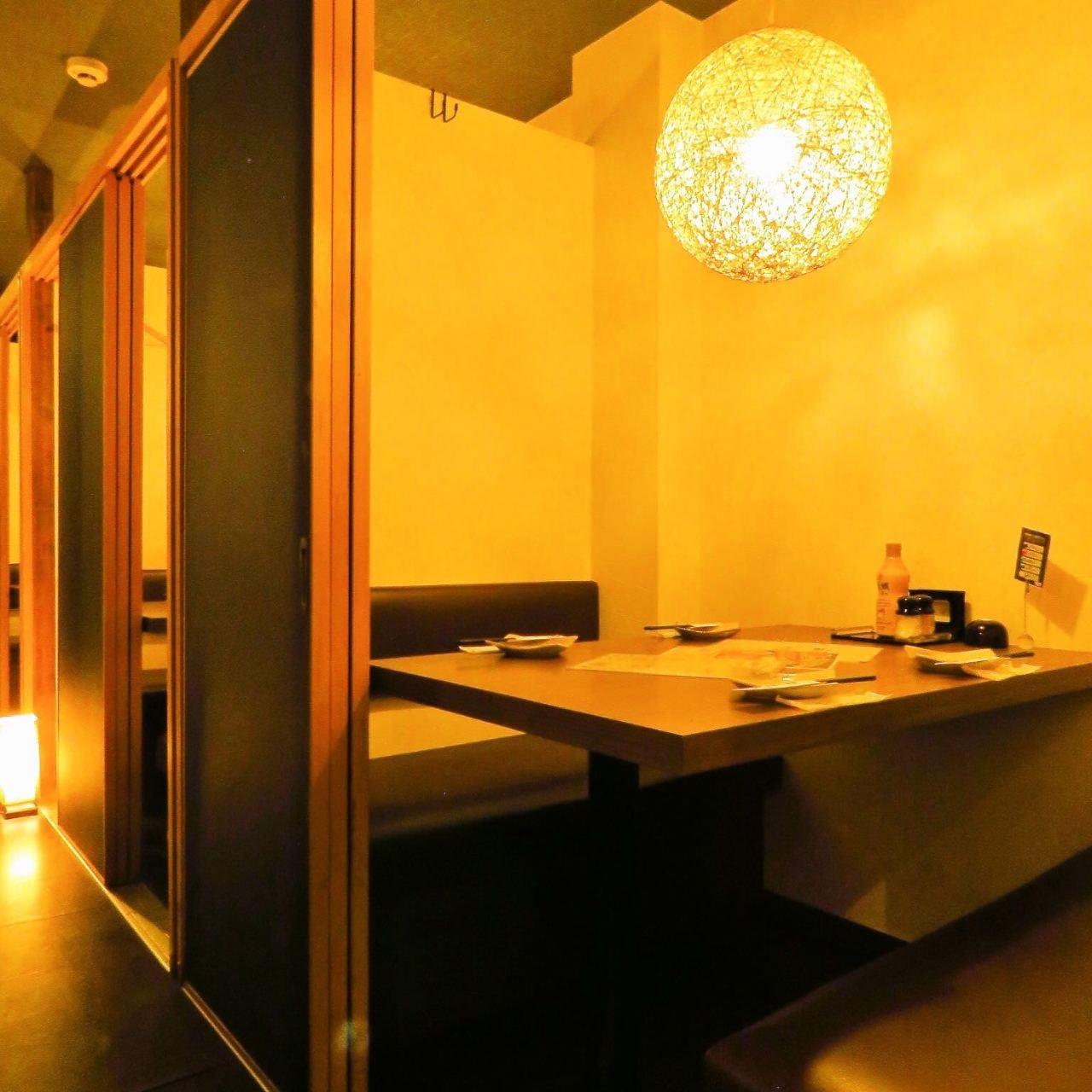 少人数様向けの完全個室もご用意しております。