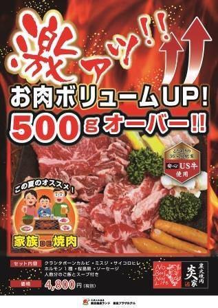 【前日までのご予約限定】家族DE焼肉♪1セット5280円→4950円/セットに♪ お子様ワンドリンクつき♪