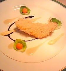 まとう鯛のカダイフ巻き バゲットのソース