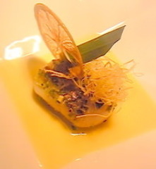 ピスタチオをまとわせたホタテ 柑橘ソース
