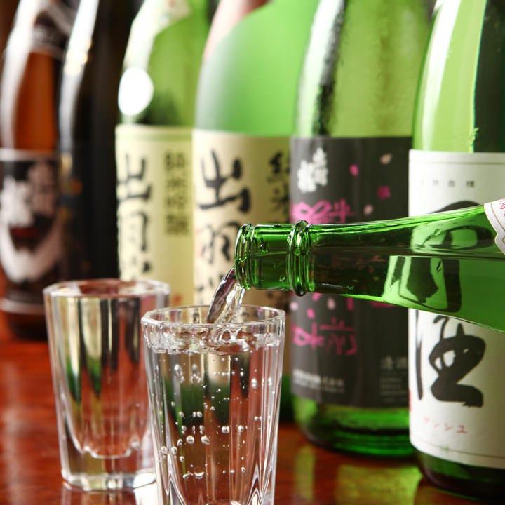 西田酒造と出羽桜酒造の日本酒を常備