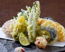地元産有機野菜の天ぷら