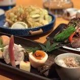 刺身・浜焼き・天ぷら・焼き物など、素材の味を活かした絶品料理