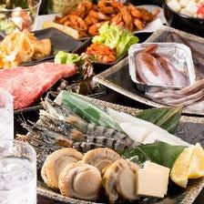 豊洲から届く【海鮮】の鉄板焼きもおすすめ致します。