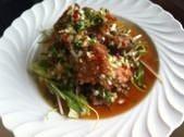 油淋鶏  (鶏モモ肉のカラアゲハーブソース)