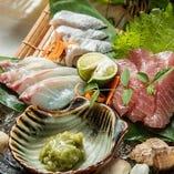 鮮魚三種盛合せ・五種盛合せ