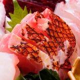 地金目鯛のお刺身