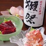 お刺身には日本酒が合います!