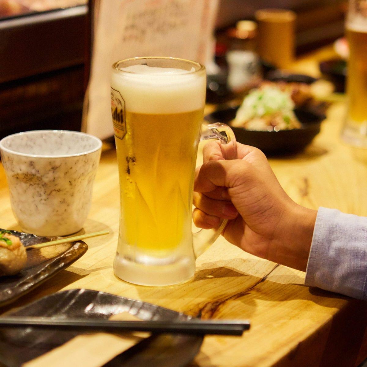 昼限定!【ちょい飲みプラン】お刺身やから揚げなどおつまみ5品+2時間飲み放題付き2000円