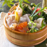 仙台鮮魚の桶盛(中)