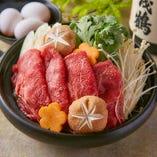 仙台牛のすき焼き