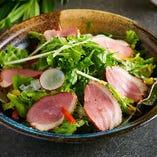 合鴨と水菜の和風サラダ