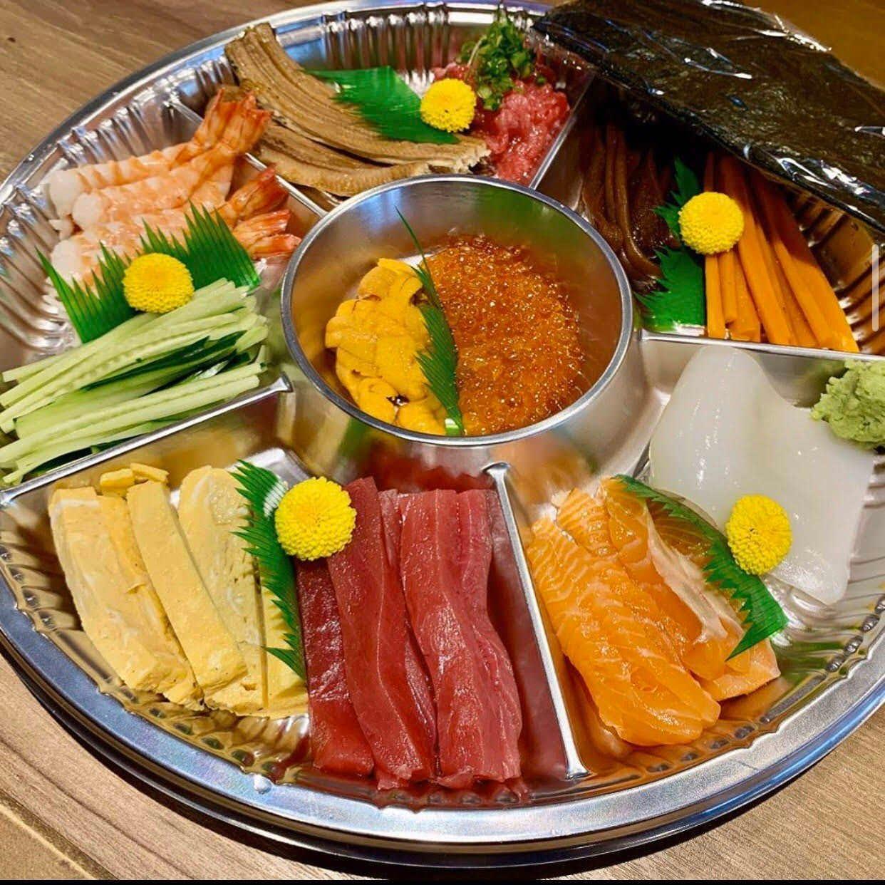 家族でたのしめる手巻き寿司セット