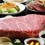 肉好き必見!黒毛和牛ステーキなど肉料理食べ放題コースも大好評