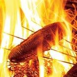 ■名物藁焼き■ 豪快に一800度以上で食材の旨味を凝縮!