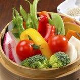 旬野菜のせいろ蒸し
