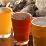 クラフトビールの飲み比べも楽しめます♪