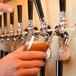 【ビール】 常時20種程の国産クラフトビールを取り揃え♪