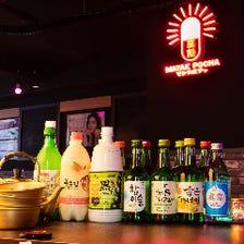 マッコリなど韓国焼酎も充実!