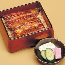 バラエティ豊かな日本料理を、当店名物うな重とともに堪能できる『竹コース』全8品