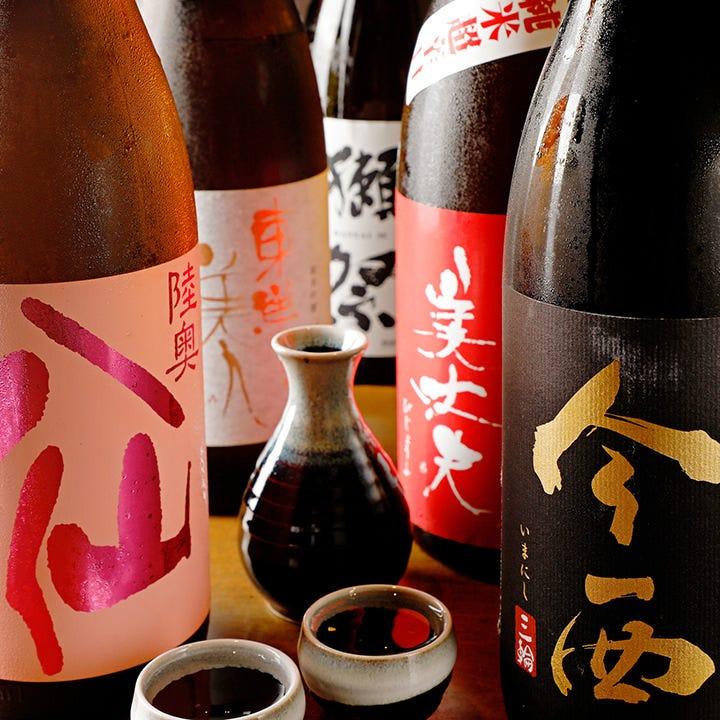 レアな銘柄も!日本酒や焼酎が豊富