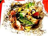 ・イイダコとムール貝のホイル焼き ~ハーブ&バター~