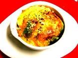 ・アボカドとじゃがいもの明太マヨチーズのオーブン焼き