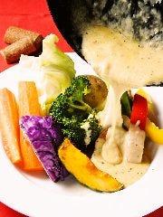 ラクレットチーズ&旬野菜