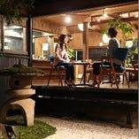 坪庭を眺めながらまったりとした時間をお過ごしください!