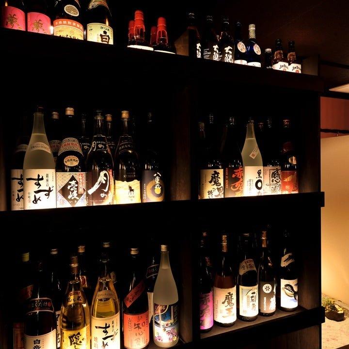 九州といえば焼酎!各県の銘酒を豊富に取り揃えてお待ちしてます