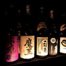九州各地から届く多彩な焼酎が自慢