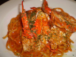 一番人気!!渡り蟹のトマトクリームソースリングイネ