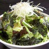 牛繁サラダ(醤油胡麻ドレッシング)