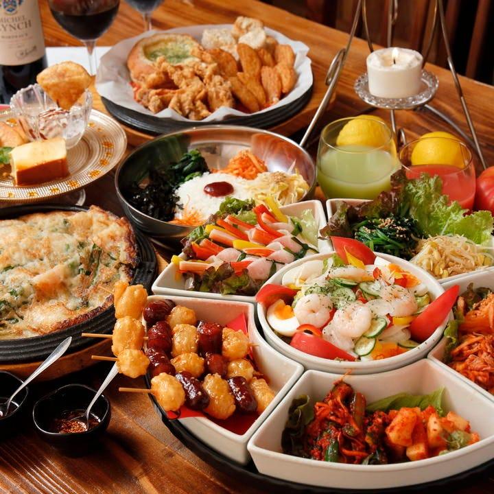 上質な空間で楽しむ韓国料理女子会