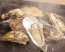 ■名物!牡蠣の鉄板ガンガン焼き