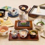 【梅の花 極-きわみ-】黒毛和牛と魚の西京焼きが選べる懐石