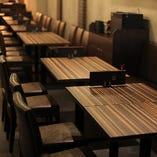 【テーブル席/2名様~】雰囲気抜群の店内で、絶品料理をご堪能◎