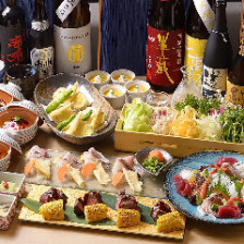 ◆一番人気!◆海鮮しゃぶしゃぶ、若鶏香味焼きなど 120分飲み放題付《人気》コース全8品 5,500円(税込)