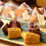 一品一品心をこめてお作りした料理の数々は職人の手練が光ります。