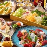 ◆接待向け◆牛ヒレステーキや鰻ちらし寿司など 120分飲放付《ましろや》コース全8品 7,000円(税抜)