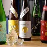 天ぷらと合わせて召し上がっていただきたい、美酒の数々。