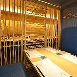 全席個室完備。会社の接待ご宴会、デートや同伴などにオススメ。