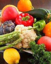 産直の力;自家米・無農薬野菜を使用